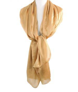 Goudkleurige zijde-blend sjaal
