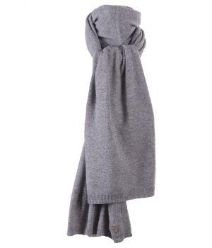 Kasjmier-blend sjaal in grijs