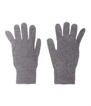 Fijn gebreide grijze 100% kasjmier handschoenen
