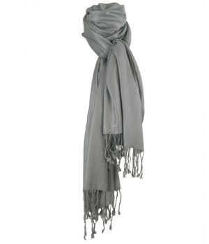 Grijze pashmina sjaal