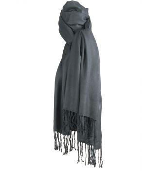 Donkergrijze pashmina sjaal
