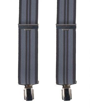 Grijze bretels met strepen