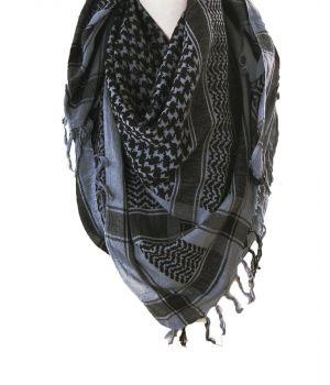 PLO-stijl sjaal in grijs met zwart