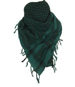 PLO sjaal / Arafat sjaal in petrol en zwart
