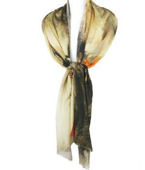 Luchtige sjaal met digitale print