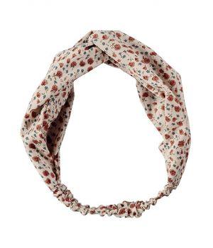 Ivoorkleurige haarband met rozen print