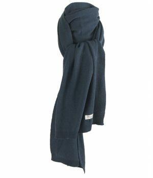 Kasjmier-blend sjaal in donker-jeans