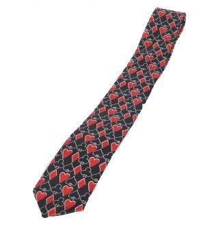 Extra smalle stropdas met speelkaart thema
