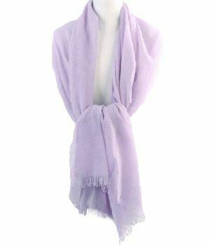 Lavendel kleurige stola/sjaal van 100% kasjmier