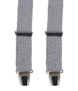 Bretels in zilver lurex