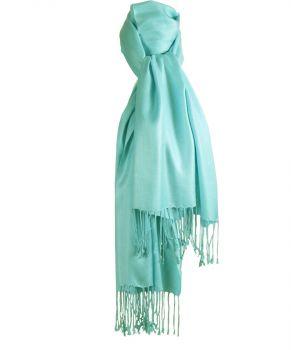 Pashmina sjaal in licht-aqua