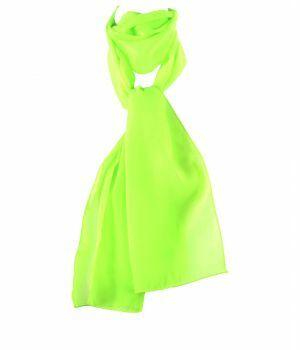 Effen neon groene crêpe sjaal