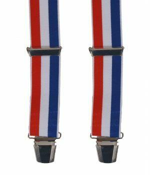 Bretels met rood, wit & blauwe streep