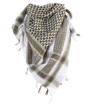 PLO sjaal / Arafat sjaal in legergroen-wit