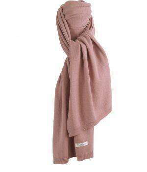 Kasjmier-blend sjaal in oudroze