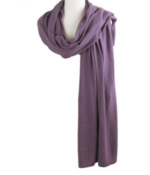Kasjmier-blend sjaal/omslagdoek in de kleur mauve