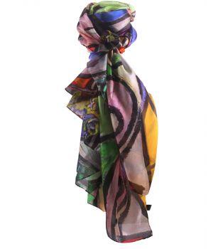 Zijden sjaal/stola met schildering van Picasso