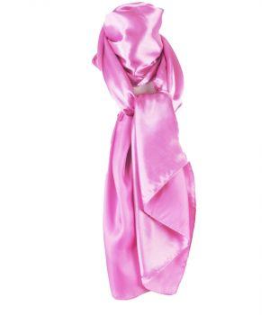 Lichtroze satijnen sjaal