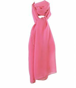 Zuurstok roze voile crêpe sjaal