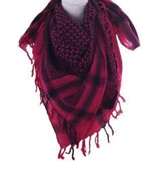 PLO sjaal / Arafat sjaal in hardroze-zwart