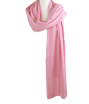 Kasjmier-blend sjaal/omslagdoek in roze