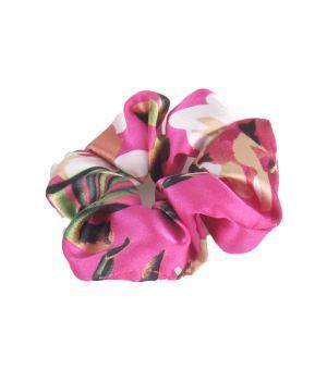 Satijnen scrunchie - Fuchsia