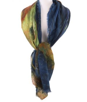 Wollen schilderij-sjaal met afbeelding van '' Portret van Vincent van Gogh''