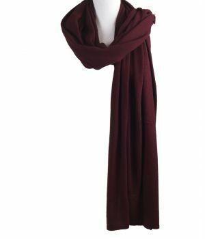 Kasjmier-blend sjaal/omslagdoek in donker-rood