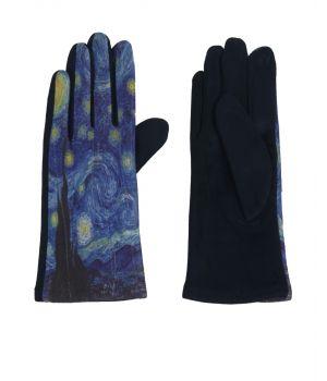Handschoenen met afbeelding van  ''De sterrennacht' door Van Gogh