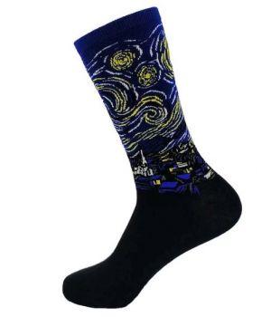 Art sokken met ''Sterrennacht'' van Vincent van Gogh
