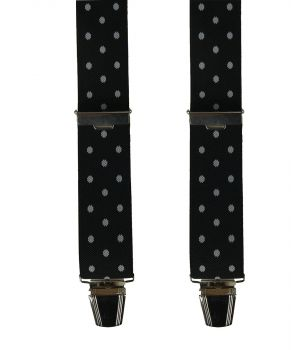 Zwarte bretels met polkadot