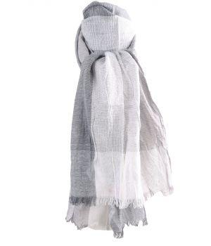 Katoenen sjaal met ruiten in grijs-tinten