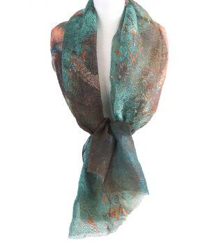 Linnen sjaal met afbeelding van de ''Ballerina'' van Edgar Degas