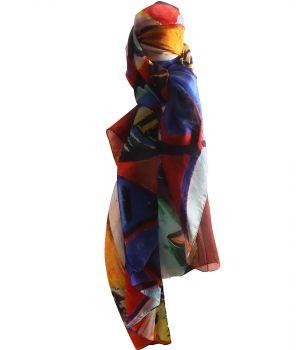 Zijden sjaal/stola met een print van '' Picasso''