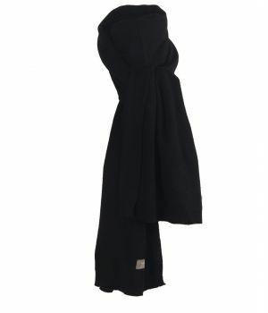 Kasjmier-blend sjaal in zwart