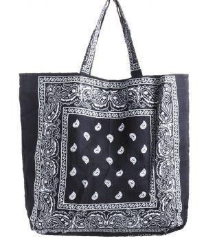 Bandana shopper in zwart