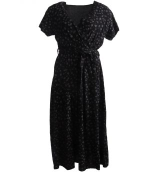 Zwarte maxi jurk met floral print
