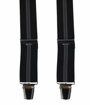 Zwarte bretels met grijze streep