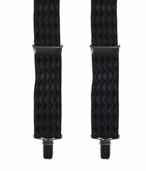 Zwarte bretels met ruitstructuur