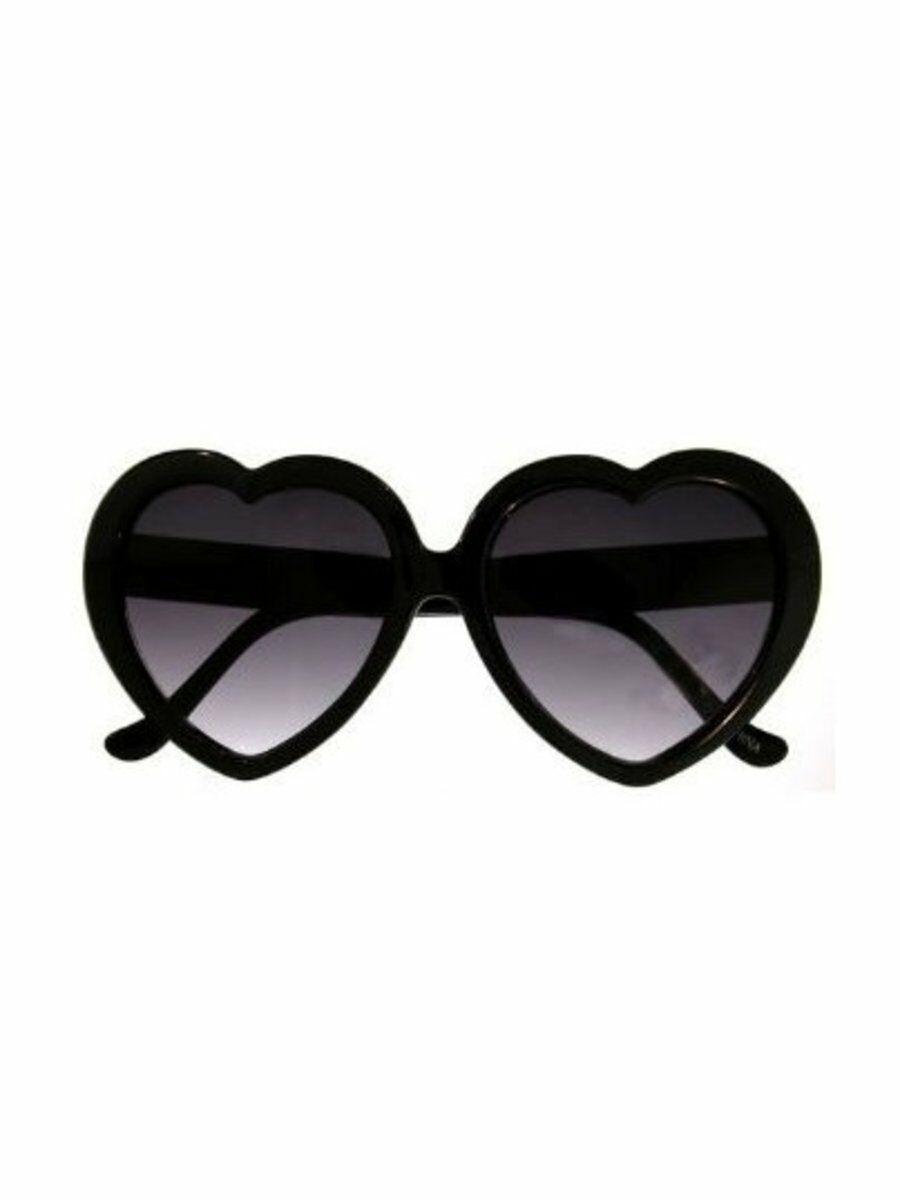0664c9df8eb8e1 Zwarte hartvormige dames festival zonnebril - bouFFante
